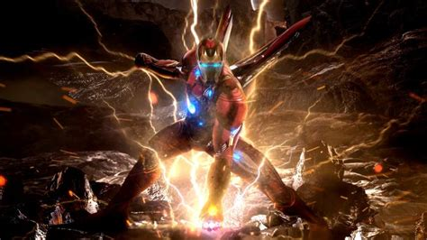 Avengers: Endgame - Ironman in action with infinity
