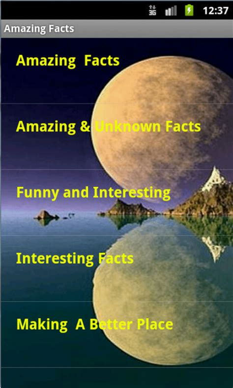 Free Amazing Facts in World APK Download For Android   GetJar
