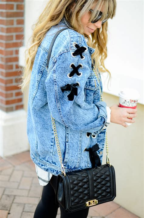 How to Style an Oversized Jean Jacket • a Sparkle Factor