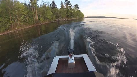 RC aluminum scale boat w/ proboat outboard- working motor