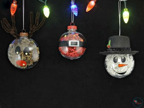 DIY Christmas Ornaments - Crinkle Paper Shreds Character