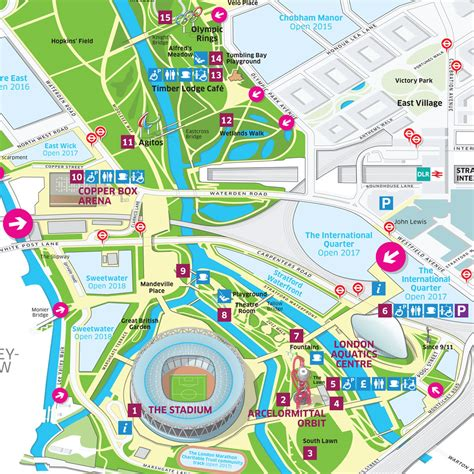 Queen Elizabeth Olympic Park visitor map on Behance