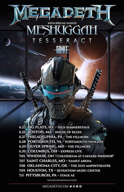 Megadeth to Tour With Meshuggah, Mustaine + Jordison in Studio