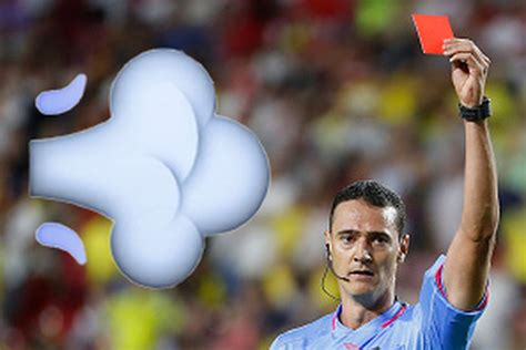Soccer player sent off for farting in referee's general
