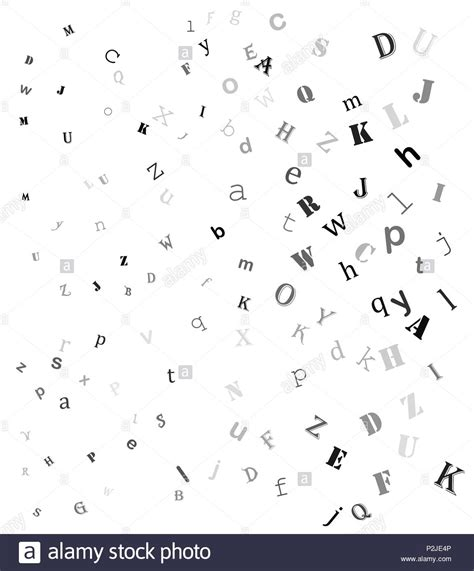 Alphabet Letters Black and White Stock Photos & Images - Alamy