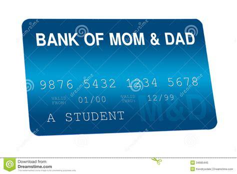 Bank Of Mom And Dad Credit Card Family Finances Royalty