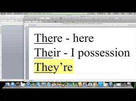 Spelling Tips: THERE, THEIR, THEY'RE - How to Spell Words