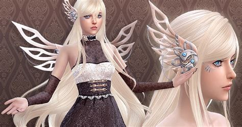 Sims 4 CC's - The Best: Hairstyle J220 SteamMist & acc by