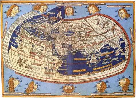 Claudius Ptolemy World Map – 1482 | Ancient world maps