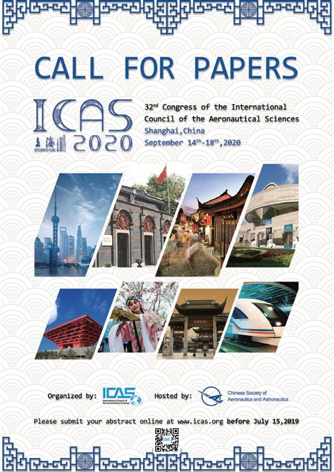 ICAS 2020 Call for Papers – abstracts deadline 15th July