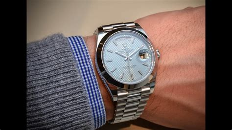 Rolex Day-Date 228206 Ice blue dial 40 mm platinum an