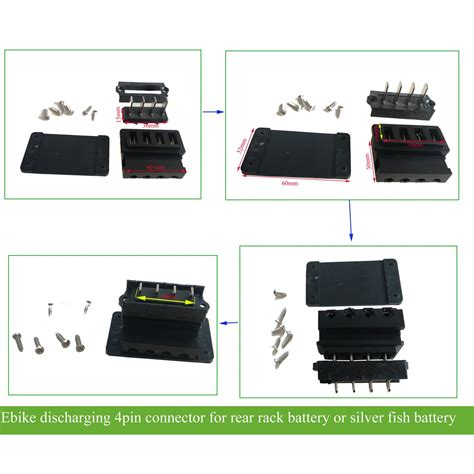 electric bike lithium battery connector with 4 pin/5pin