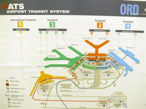 Chicago O Hare terminal map - Map of O Hare terminals