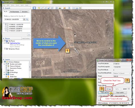 How To Easily Copy The Coordinates in Google Earth
