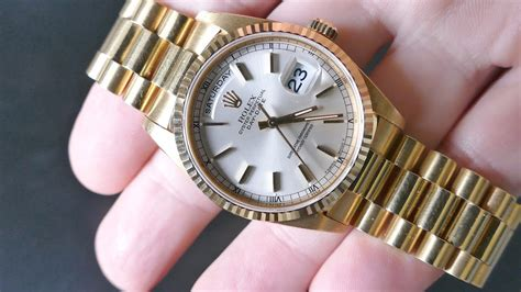 Rolex DAY-DATE 36mm with President Bracelet 4k UHD - YouTube