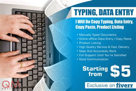 Do product listing, copy typing, data entry, copy paste by