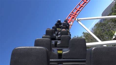 SCREWED UP AWESOME Bullet Roller Coaster! Back Seat POV