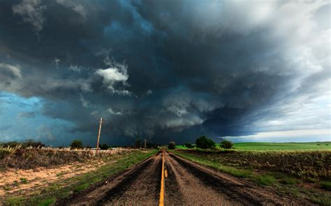 united states texas the field road storm the storm sky