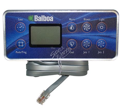 BALBOA M-SERIES DELUXE SPA SIDE CONTROL PANEL FOR 2 PUMPS