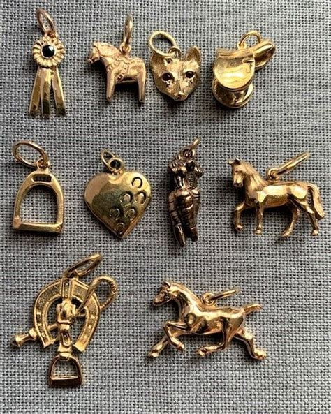 gold horse and equestrian charms! in 2020 | Equestrian