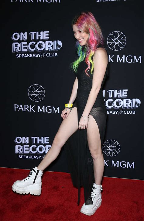 Dani Thorne Attends the Record Grand Opening Red Carpet at