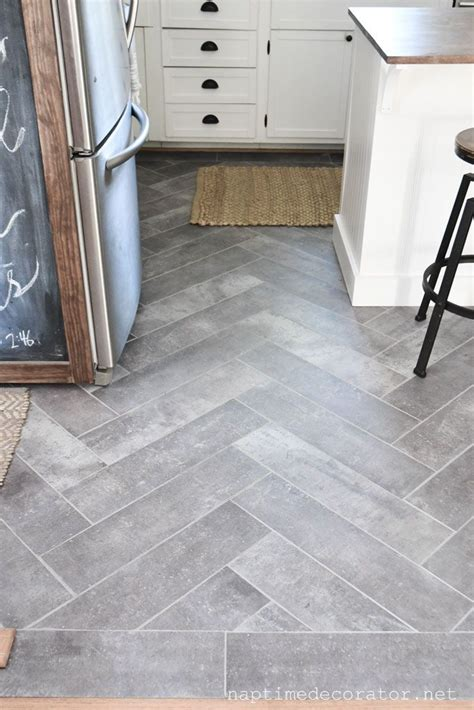 Peel And Stick Floor Tile in the Kitchen: A Gorgeous