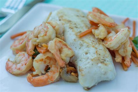 Healthy Grilled Withe Fish Recipe - Hake Loin With Shrimp